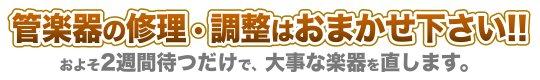 管楽器修理鳥取県西伯郡大山町